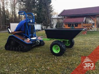Prikolica garač za quad in vrtni traktor