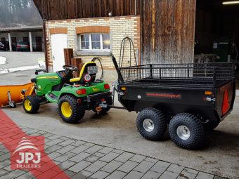 atv prikolica profi vrtnar za majhen traktor